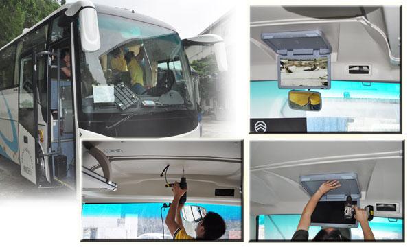 威泰科车载显示器实体安装案例一