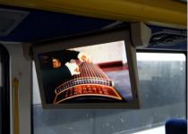 150台电动显示器装在加拿大旅游巴士上