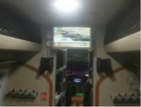 19.5寸吸顶显示器成功安装在宇通客车河南武警防爆巡逻车
