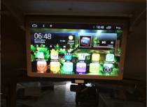 18.5寸电动显示器装丰田考斯特