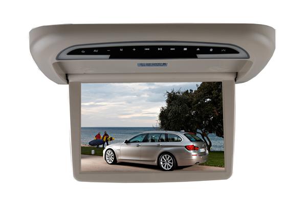 东莞厂家直销电动车载吸顶DVD,商务车专用全自动吸顶显示器
